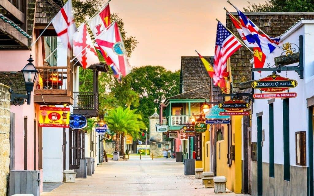 St. George Street in St. Augustine, Florida