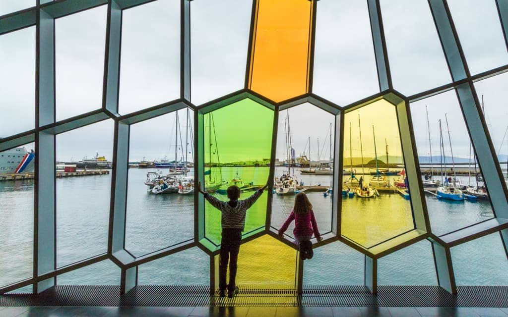 Iceland with kids - The kids loved Reykjavik's Harpa concert hall