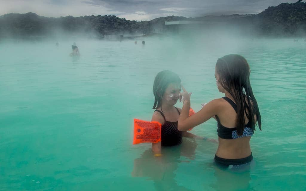 Iceland with kids - At the Blue Lagoon
