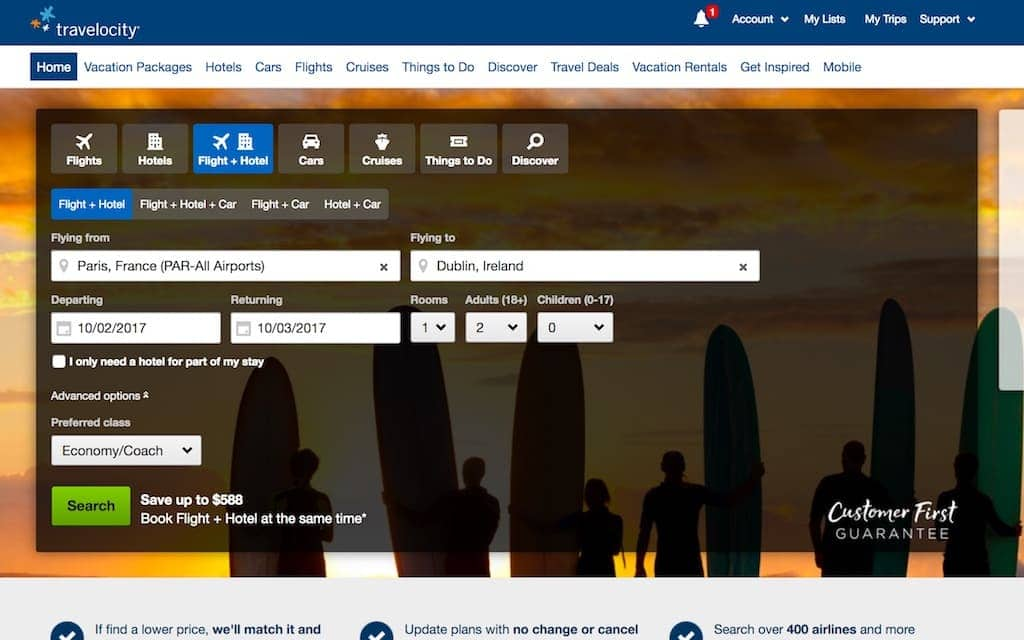 Travel planning tips- Travelocity booking engine