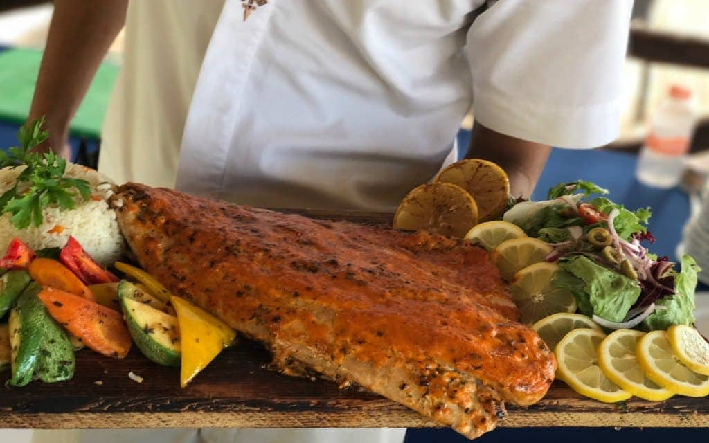 Fish prepared fresh daily at Fiesta Americana Puerto Vallarta