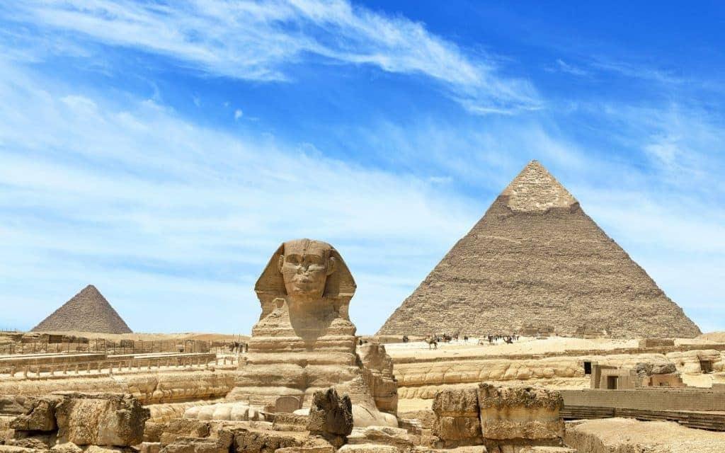 Giza Pyramids And Sphinx in Cairo, Egypt