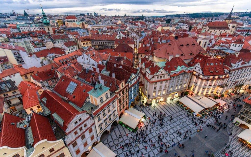 Night Prague - old town square