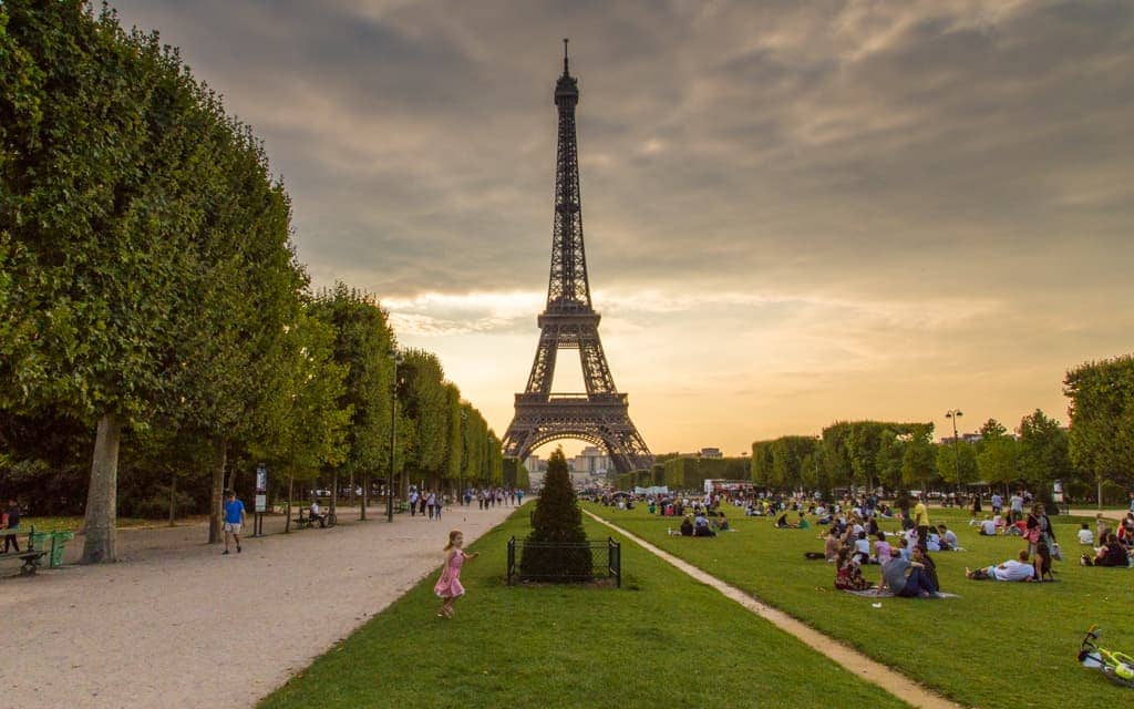 Europe Kid Activities: Evenings at the Eiffel Tower are perfect!