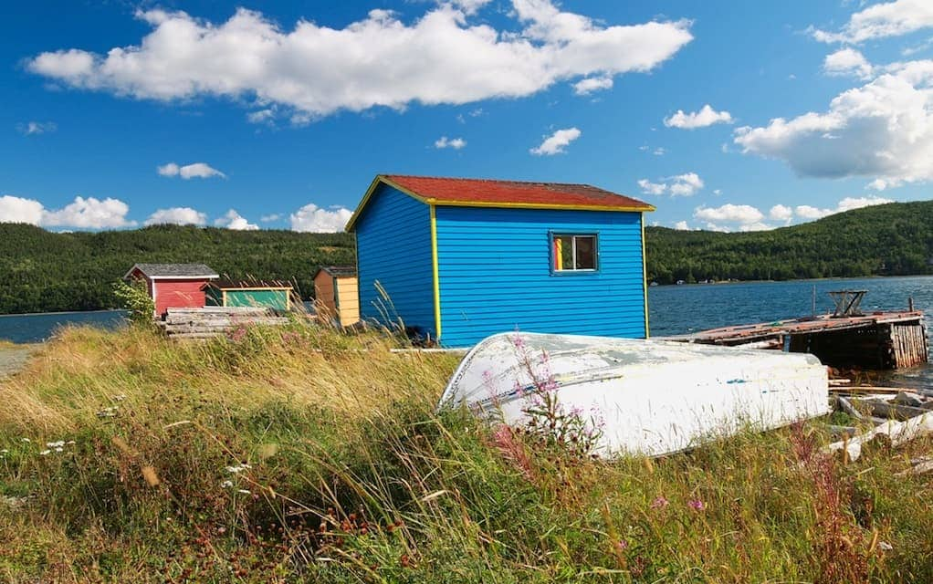 Newfoundland fishing shacks a Colorful Places photo by MikesRoadTrip.com