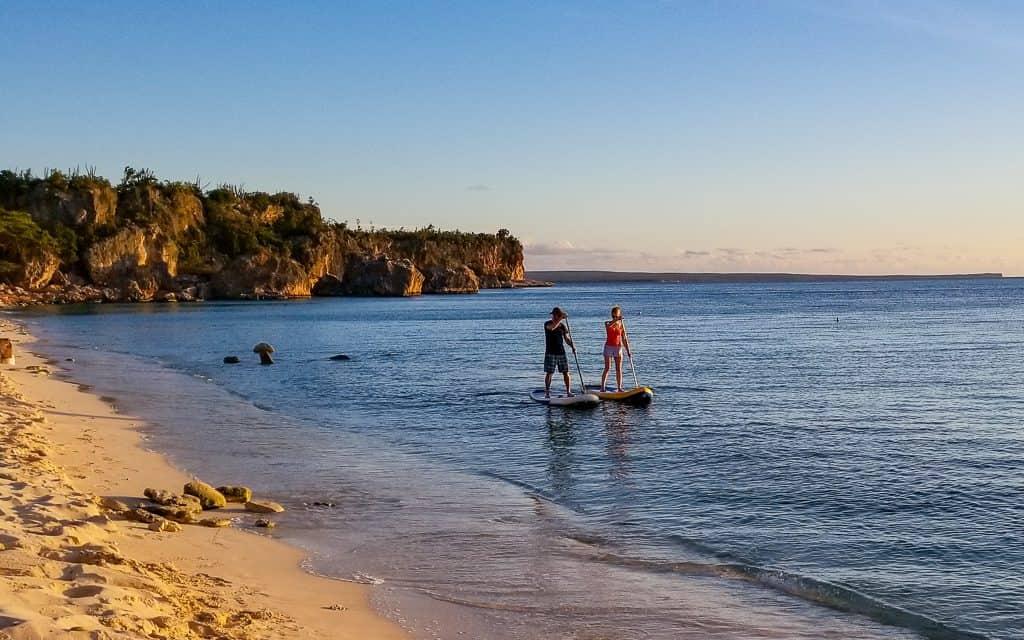 Standup paddleboarding Cabo Rojo, the gateway to Bahia de las Aguilas. Photo by HoneyTrek.com
