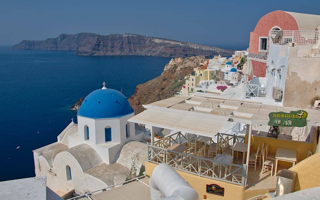 Santorini Greece is one of the most colorful places in the world. Photo by MikesRoadTrip.com