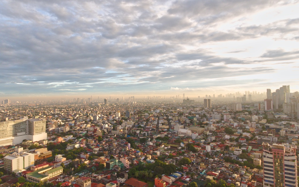 Manilla Philippines downtown-aerial-by-Mike-Shubic