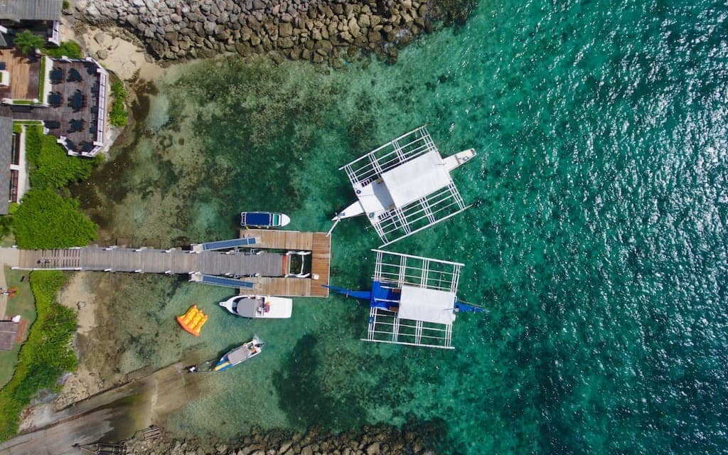 Outriggers from above at the Shangri La Resort in Cebu City by MikesRoadTrip.com