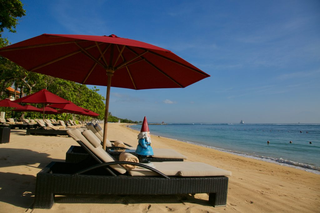 Vacation in Bali: The private beach at The Laguna, a Luxury Collection Resort & Spa, Nusa, Dua, Bali
