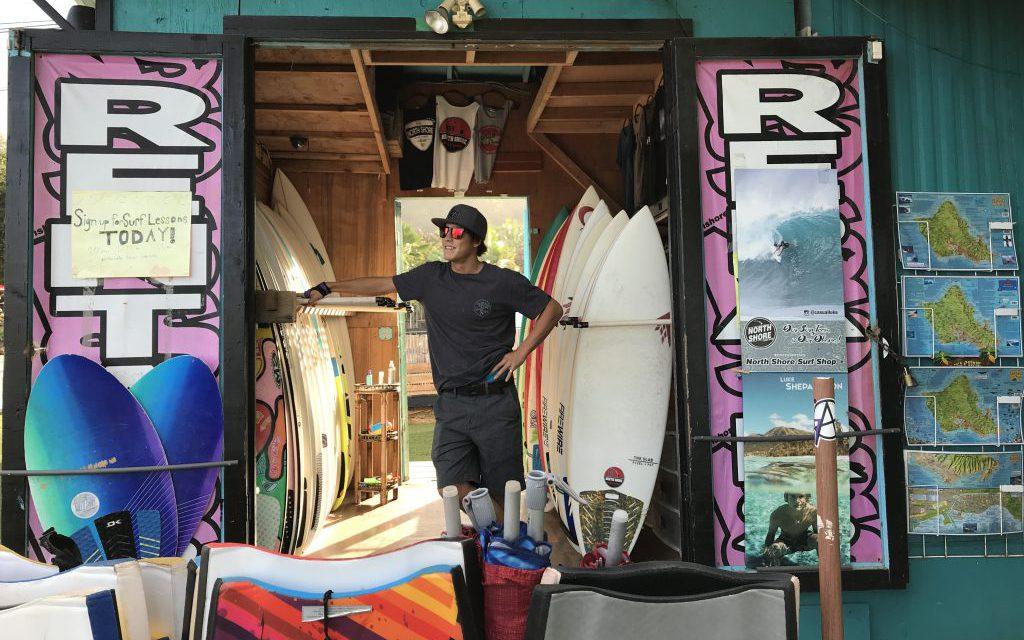 Surf Shops along North Shore Oahu Hawaii