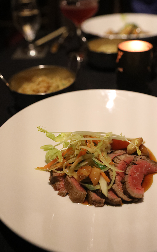 SAK-I Beef Tenderloin with roasted garlic and noodles