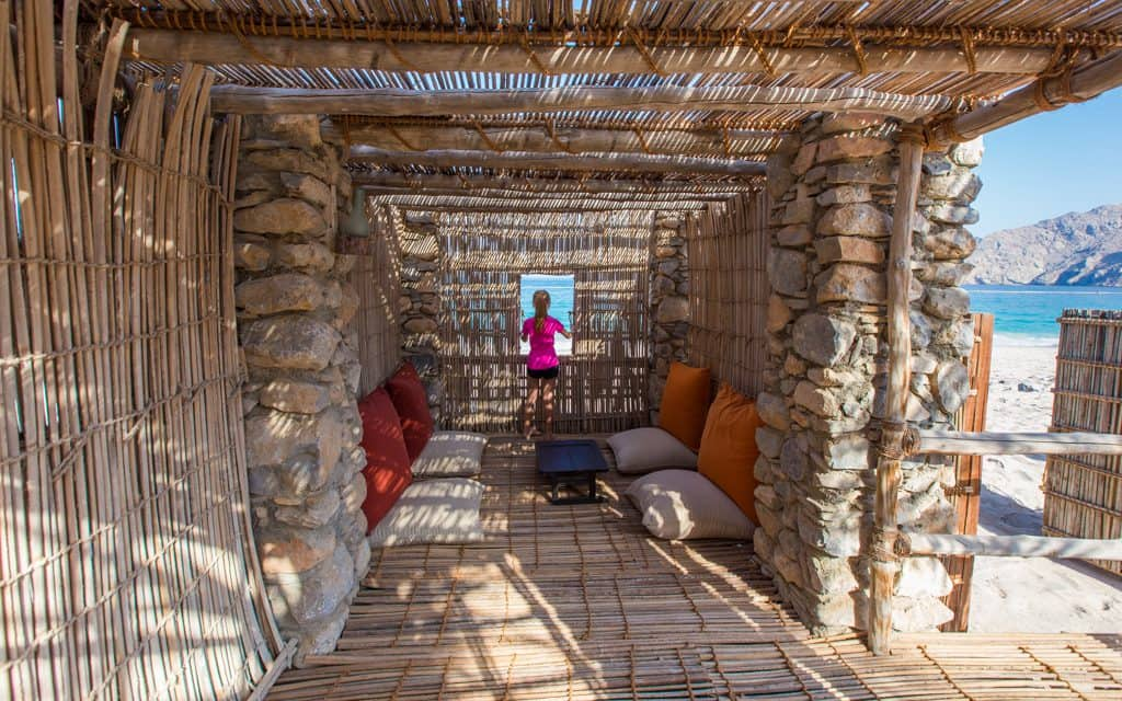 Extraordinary hotels: In our Omani Summer House (aka my daughter's fort) between our villa and the beach at Six Senses Zighy Bay