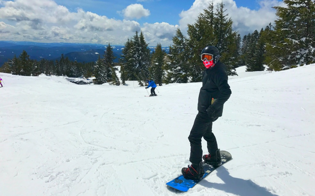 Snowboarding at Timberline Lodge