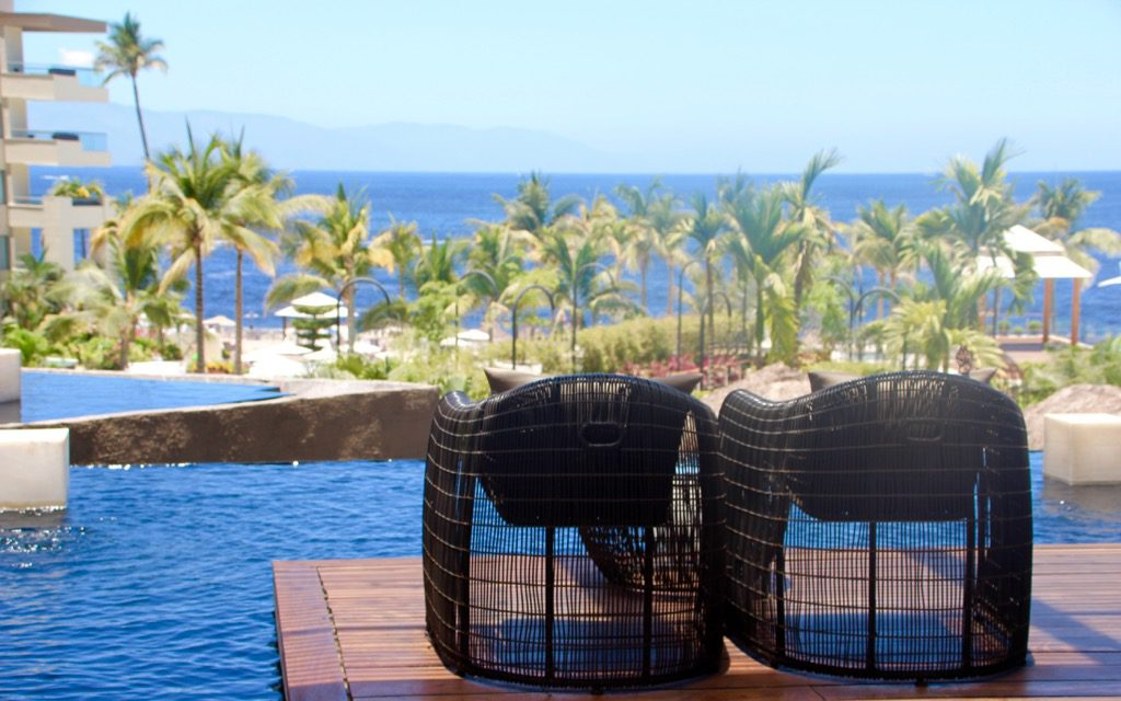 View from the lobby of Puerto Vallarta: Kid-Friendly Now Amber Resort