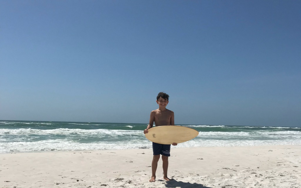 Skimboarding at Shell Island