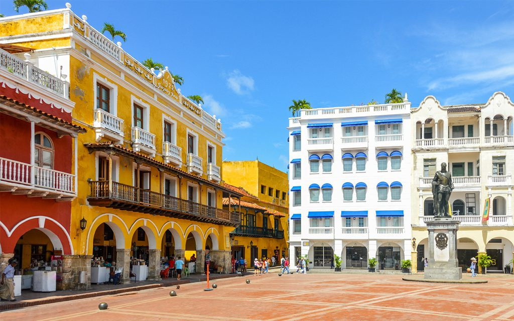 plaza in colombia