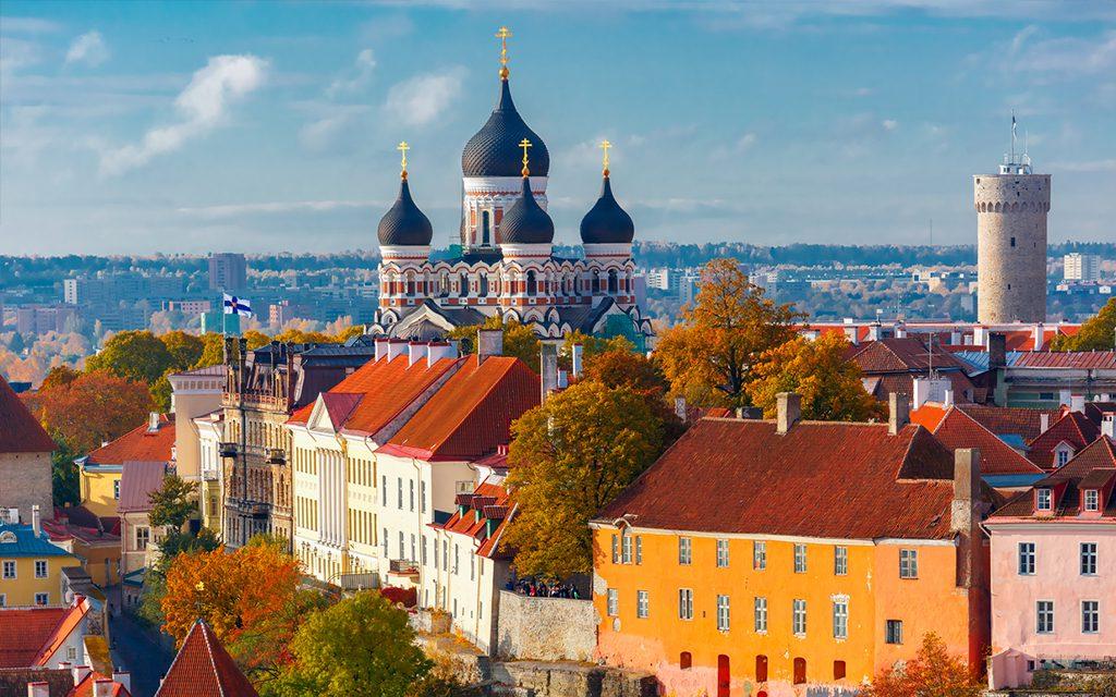 cityscape of tallinn estonia