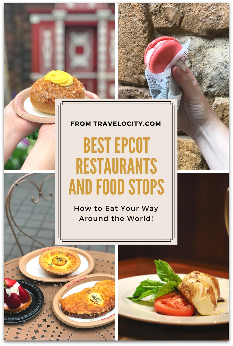 My picks of the best Epcot restaurants are a mix of sit-down traditional experiences as well as kiosks. Have you eaten your way around the world yet?