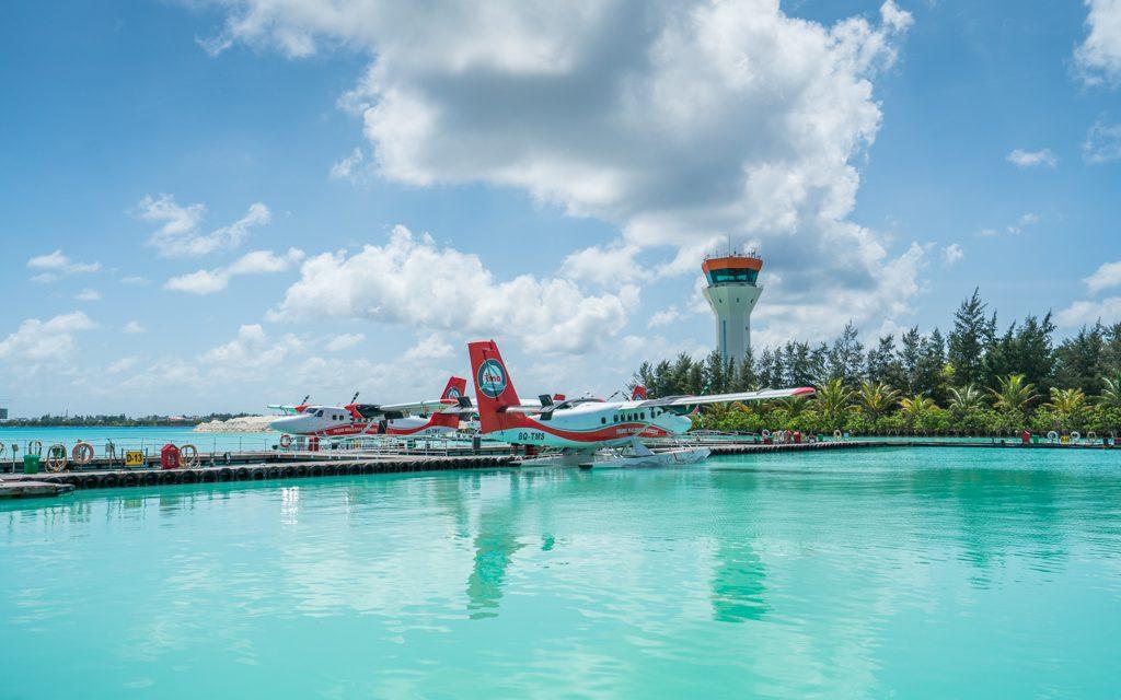 Amazing Hotel Arrivals - The float plane that took us to Soneva Fushi