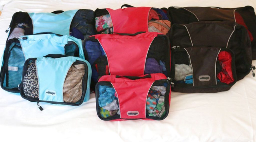 carry on luggage - packing cubes