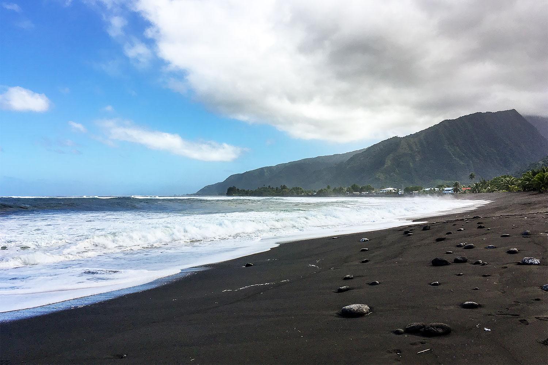Tahiti Black Sand Beaches