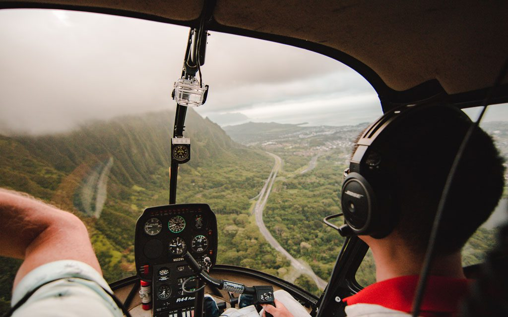 Helicopter rides over Oahu are a must!