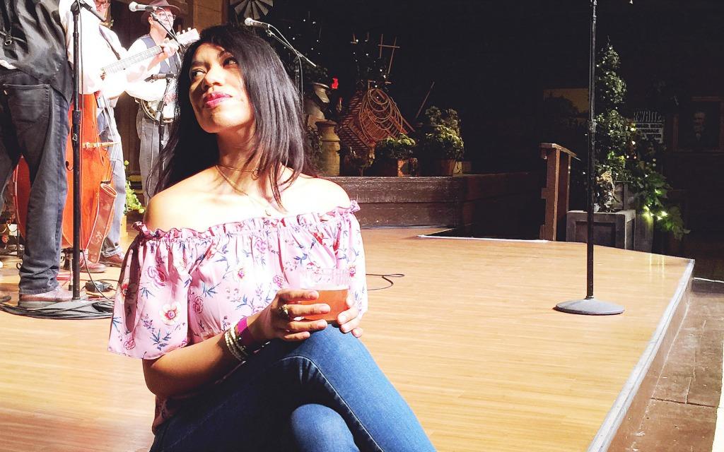 Wine tasting at Boysenberry Festiva
