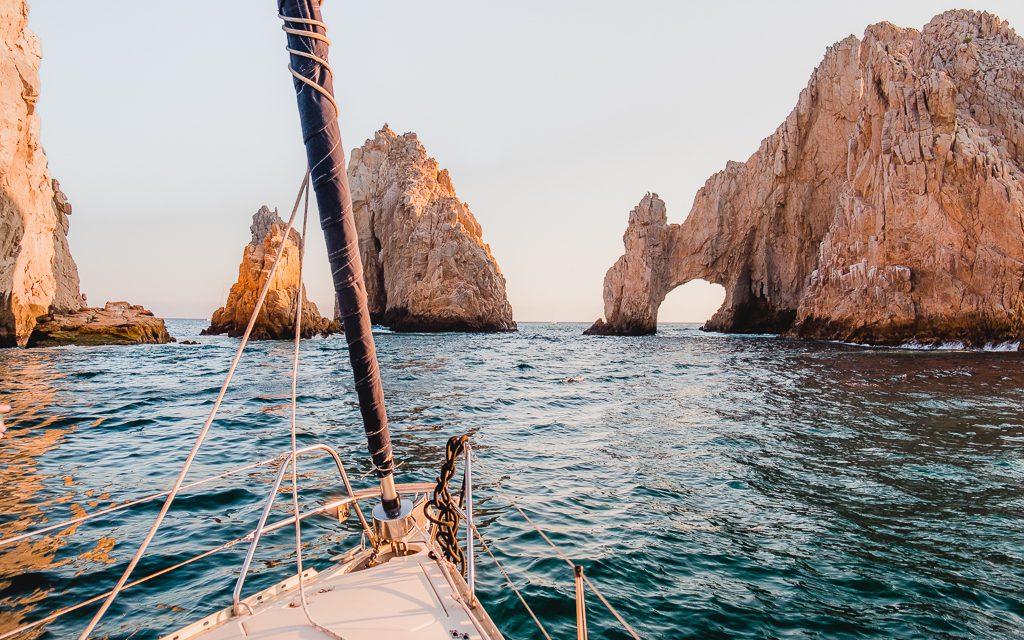Sailing Cabo San Lucas at Sunset