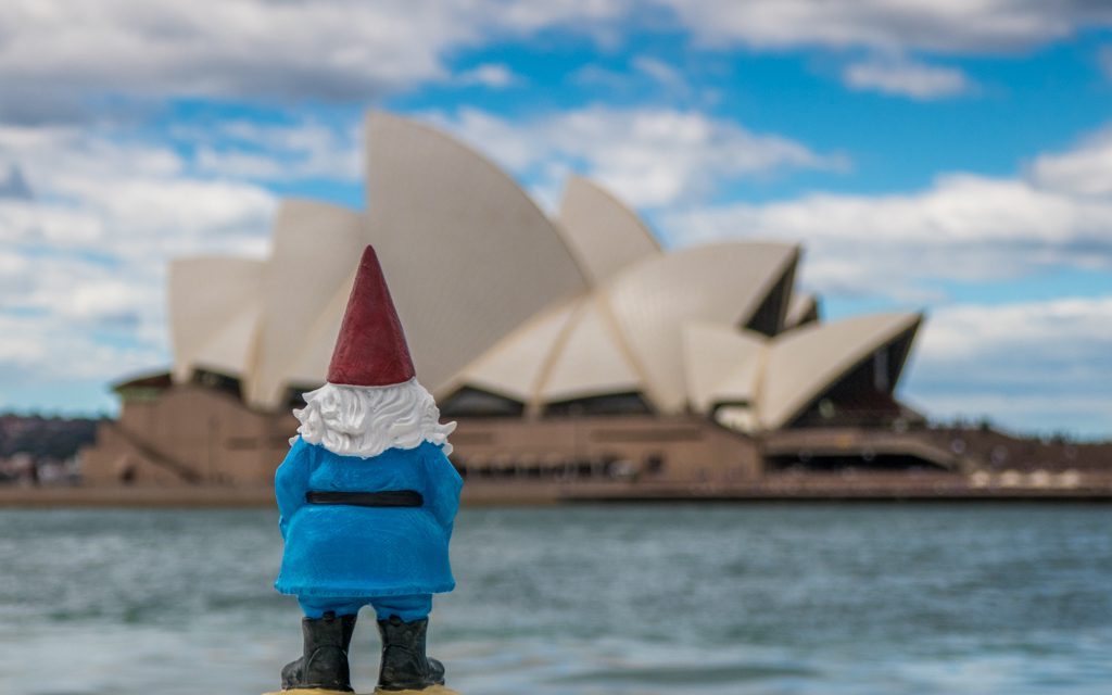 Around the world - The Roaming Gnome in Sydney