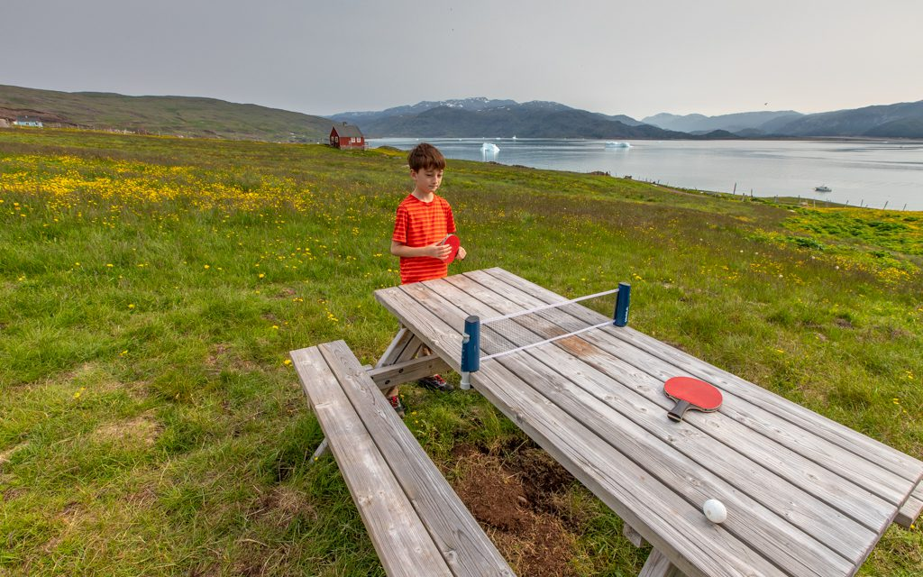 Around the world - Picnic table ping pong in Greenland!