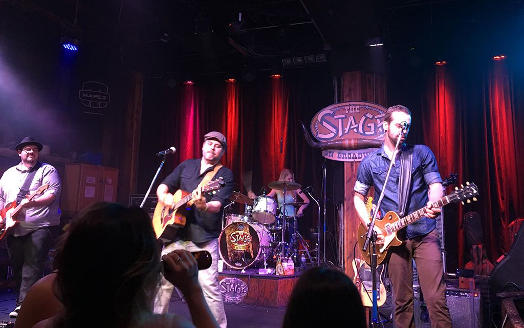 Local Nashville band playing The Stage on Broadway