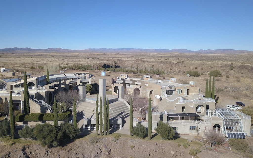 Arcosanti aerial photo by MikesRoadTrip.com