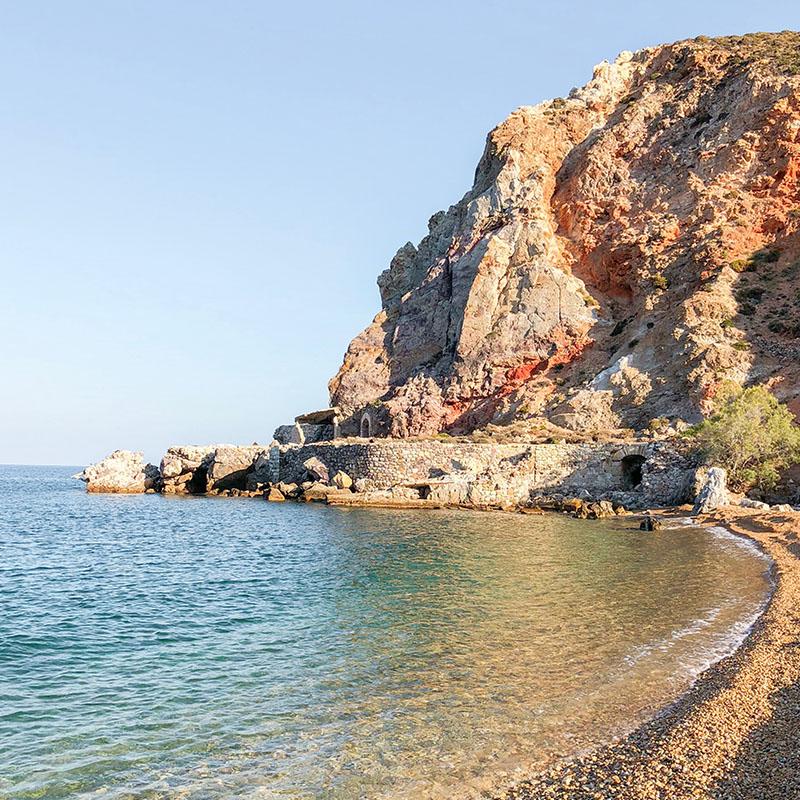 Rock Mining_Paliorema Beach by sulfur mines