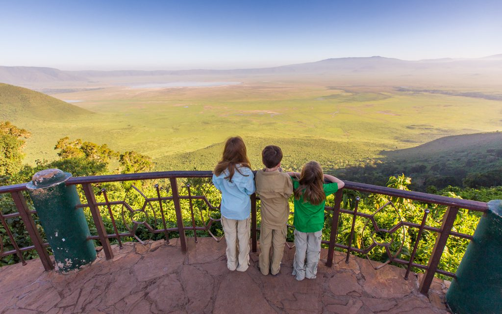 Safari tips - The kids' standard outfits. The green t-shirt came from our safari outfitter - another reason to pack light.