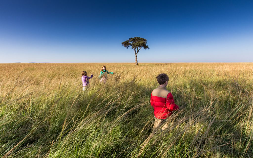 Safari tips - The kids loved getting out of the safari vehicle and running around (whenever it was safe to do so!)