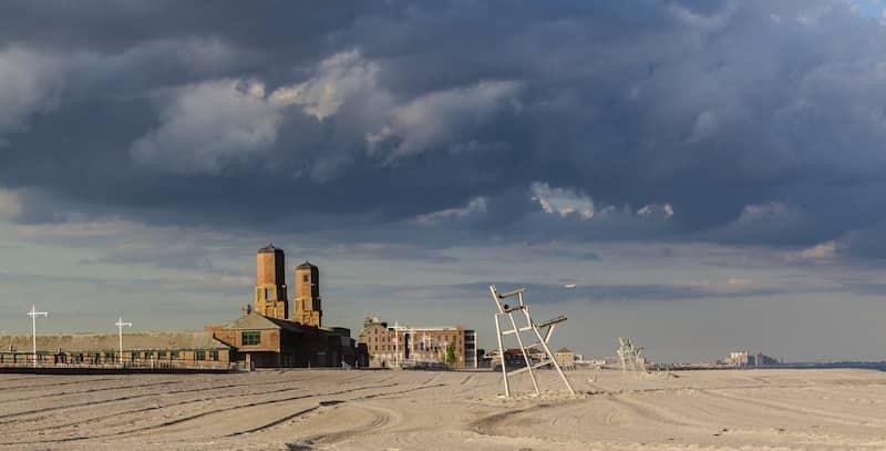 Jacob Riis Park and beach in Rockaway, Queens, New York