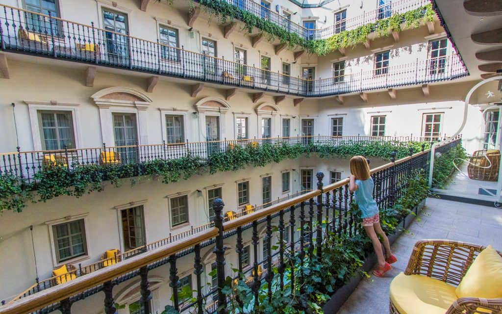 Best Big City Hotels - The view from Aria Hotel Budapest is excellent, but we enjoyed our interior balcony as well