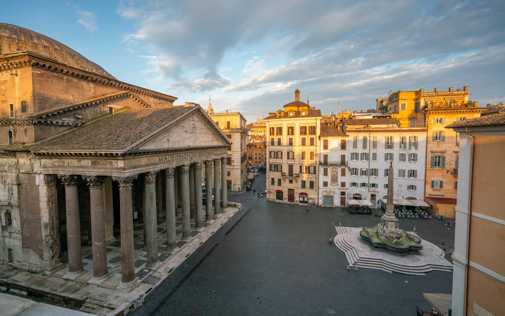 Best Big City Hotels - The Pantheon from our room at Albergo del Senato