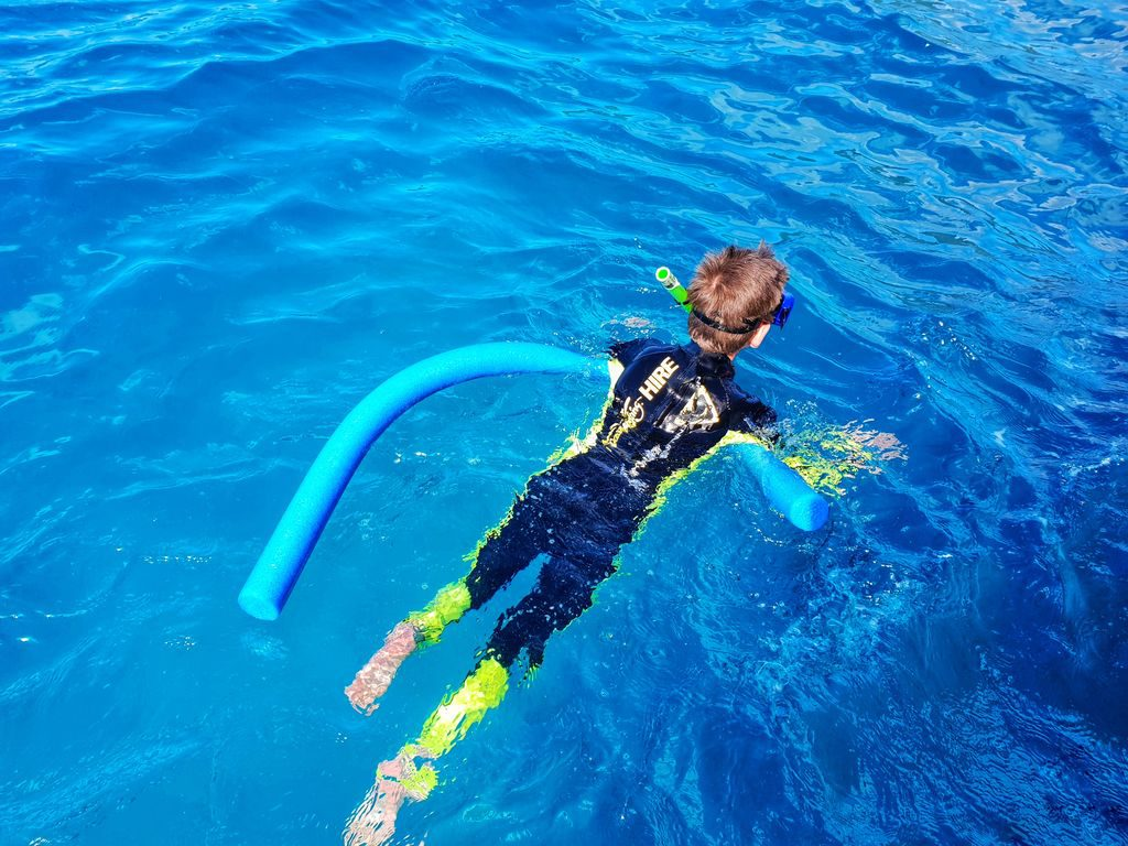 Great Barrier Reef With Kids - swim noodles