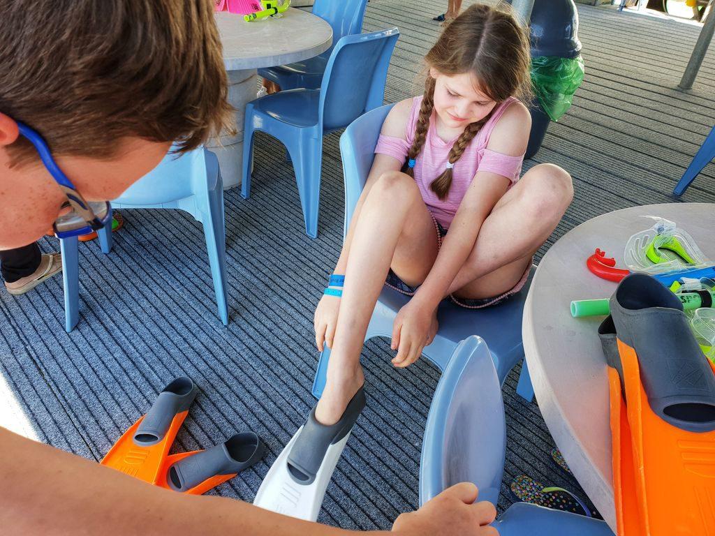 Great Barrier Reef With Kids - flipper ready
