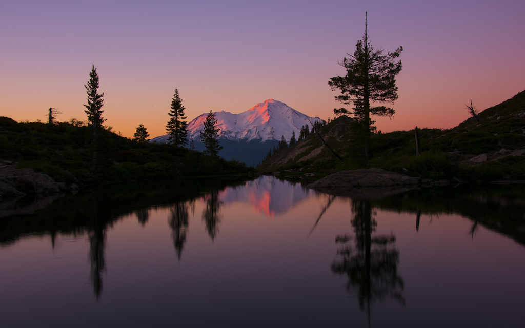 Sunset at Mt. Shasta
