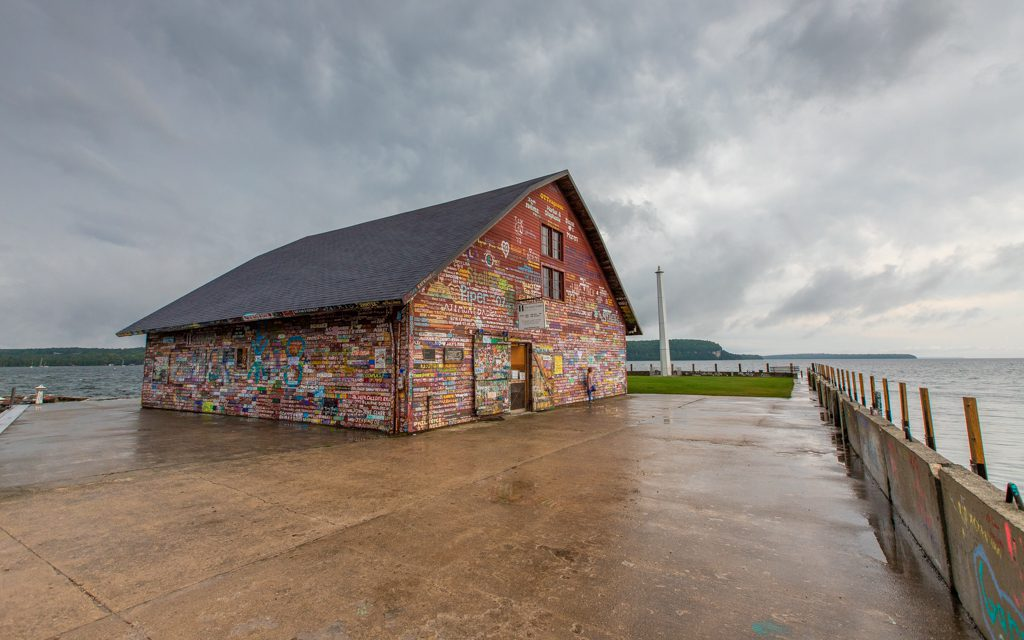 Where to travel in 2019 - The Hardy Gallery in Ephraim, Wisconsin – an old dockside warehouse signed by ships' captains over the years