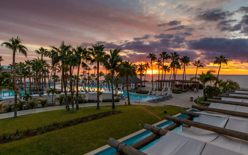 Los Cabos with Kids - The view from my room. I'll always take a sunrise view over a sunset view!