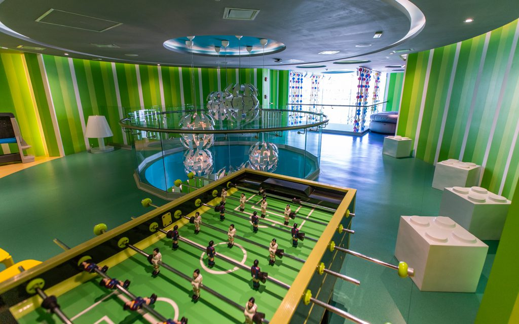 Los Cabos with Kids - Foosball upstairs at the kid's club