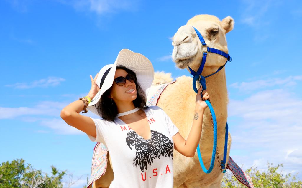 Camel riding in Los Cabos with Cabo Adventures | photo credit: Pattie Cordova