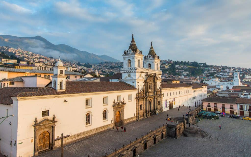 South America - The Church and Monastery of St. Francis in Quito, Ecuador