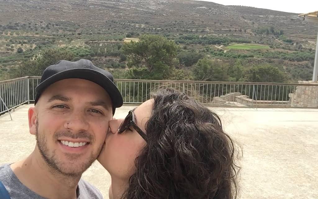 Joe and Sarah on vacation in Greece