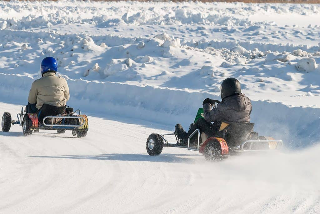 Ice Karting in Levi, Finland