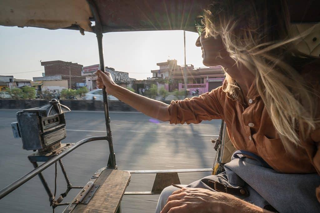 Race Rickshaws Through India